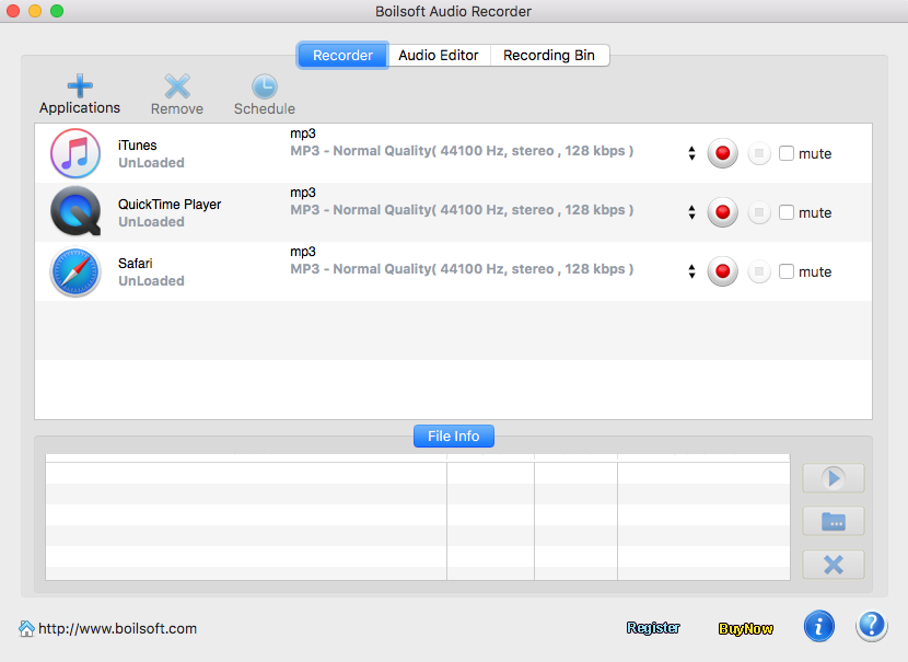 Boilsoft Audio Recorder for Mac - audio recording and sound