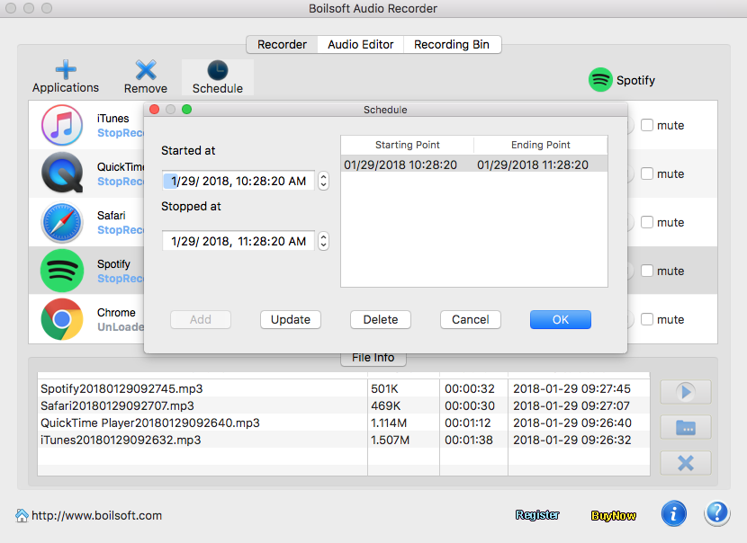 Boilsoft Audio Recorder for Mac - audio recording and sound editing