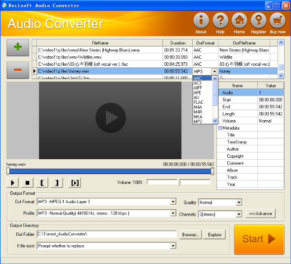 Boilsoft audio converter
