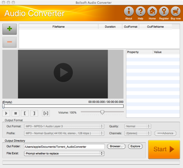 Boilsoft Audio Converter for Mac