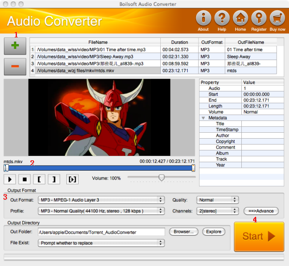 Audio Converter for Mac, convert AAC, AC3, AIFF, APE, AU
