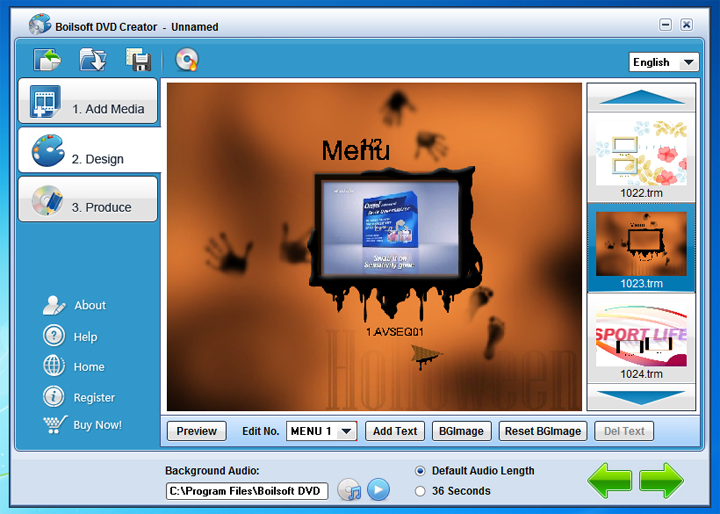 Boilsoft DVD Creator Screenshot