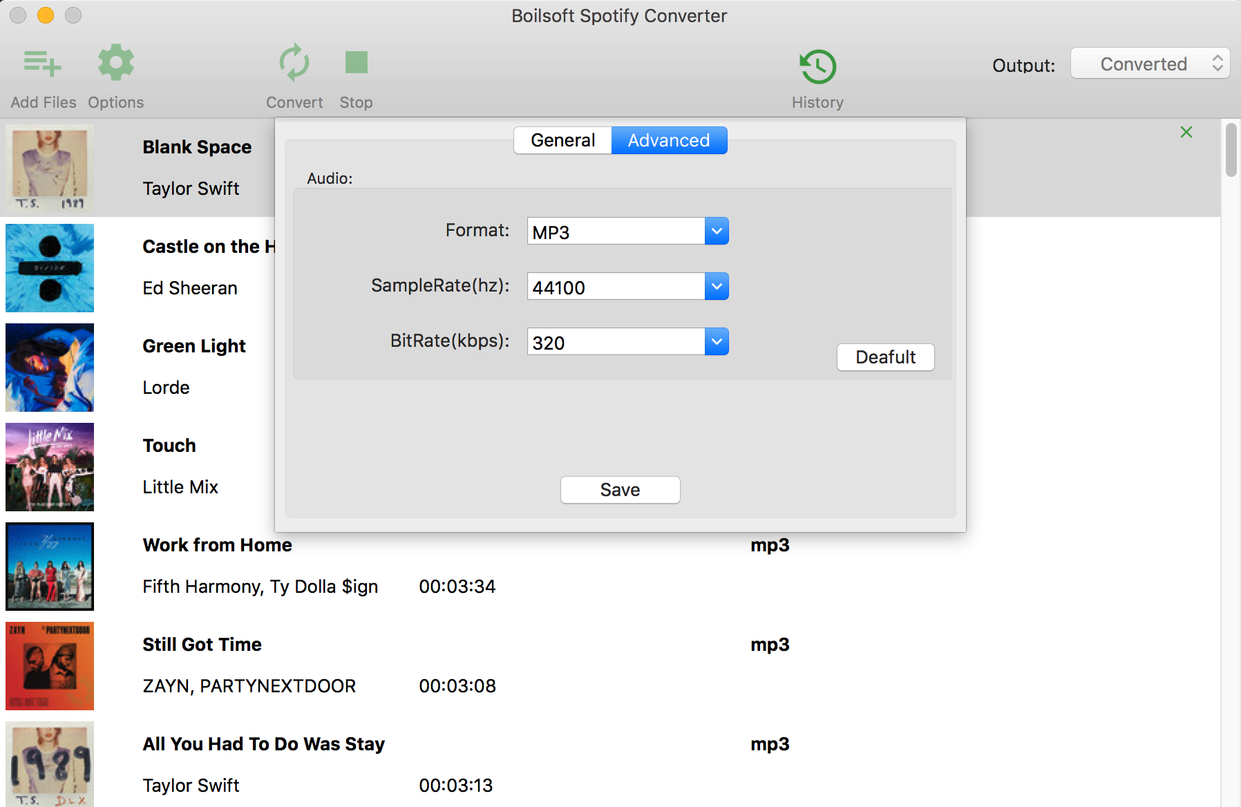 convert spotify playlists to mp3