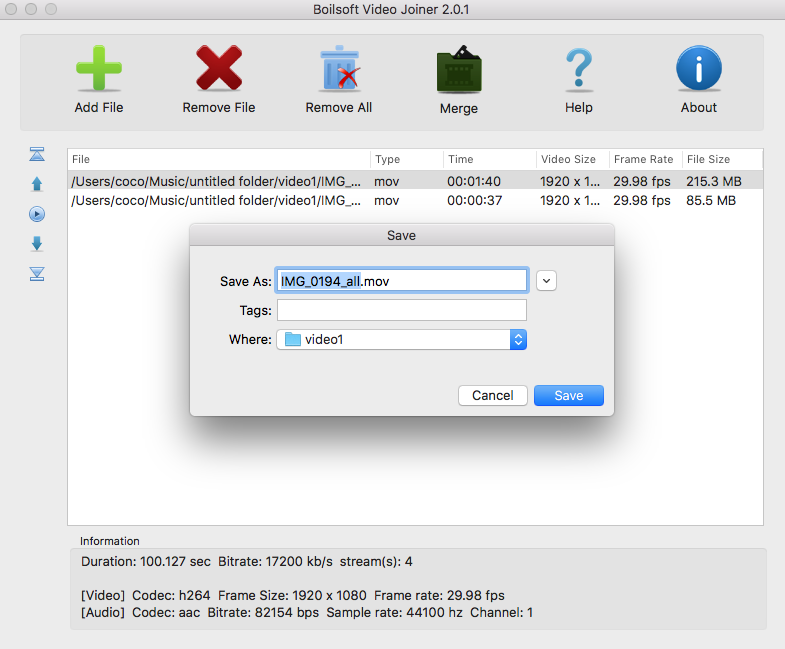 MOV Joiner - MOV Merger - Join/Merge mov files without re