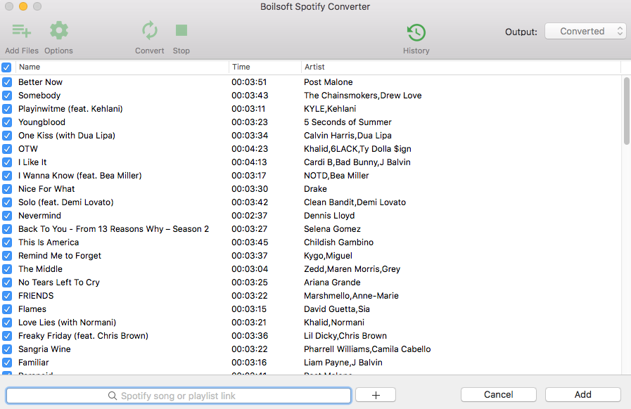 Spotify playlist downloader - Download any Spotify Playlists
