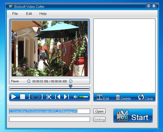 Boilsoft Video Cutter - cut avi/mp4/vob video files to all ...